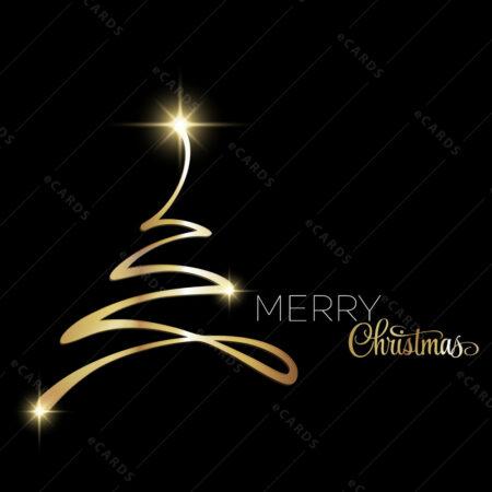 Božična čestitka sa drvcem od zlatnog bljeska GC0124