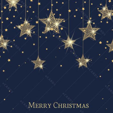 Božićna čestitka zlatne zvijezdano nebo GC0123