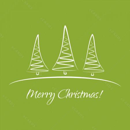 Božićna drvca čestitka GC0092