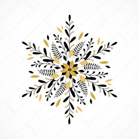 Čestitka sa lijepom vintage snježnom pahuljom GC0122