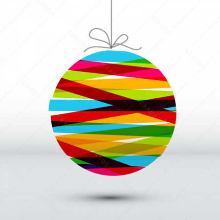 Simpatična Božićna kartica sa simaptičnom šarenom kuglicom GC0127