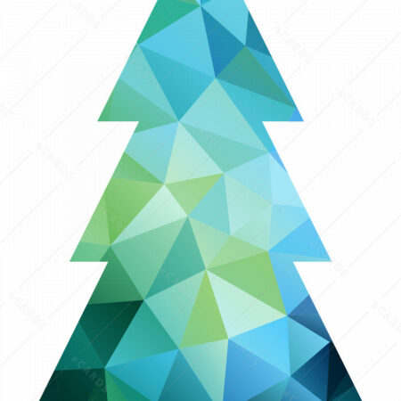 Abstarktno božićno drvce - čestitka GC0003