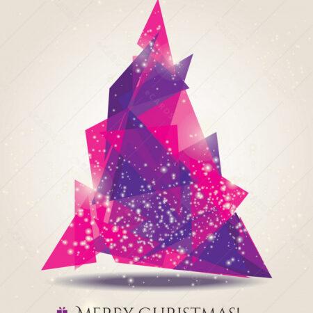 Božić sa modernim elementima - čestitka GC0002