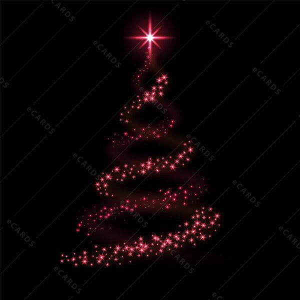 Božićna čestitka sa kozmičnim borom GC0071