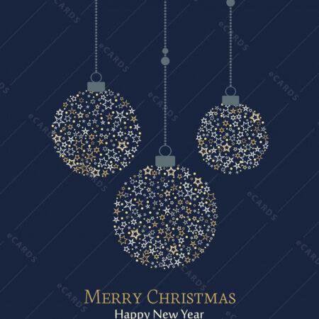 Božićna čestitka sa kuglicama GC0027