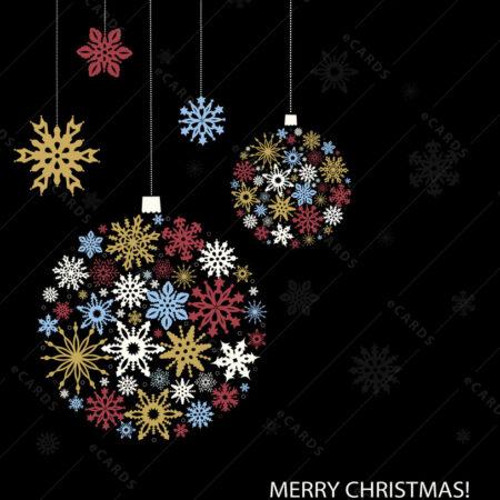 Božićna čestitka za pahuljastim Božićnim kuglicama GC0117