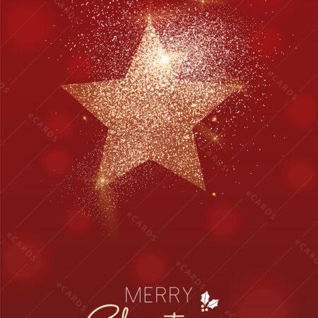 Božićna čestitka zvijezda u zvijezdanoj prašini GC0110
