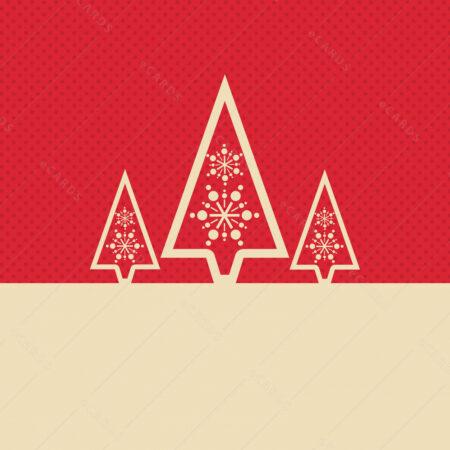 Božićna drva čestitka GC0037