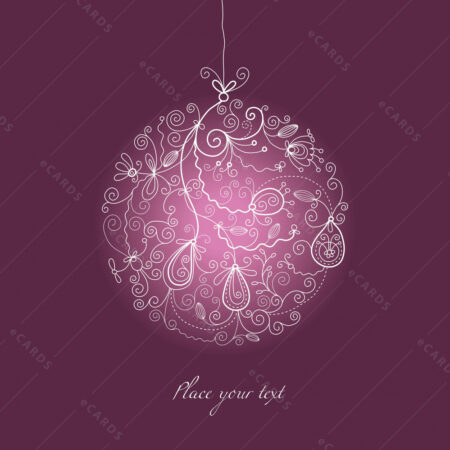 Božična kuglica sa ornamentima čestitka GC0026