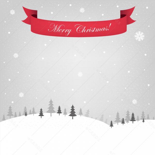 Božična šumska idila čestitka GC0137
