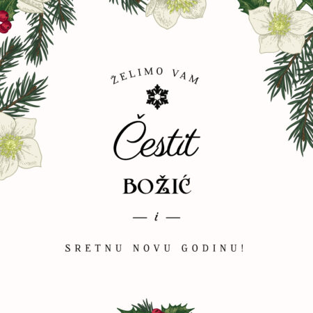 Božićne grane čestitka GC0148