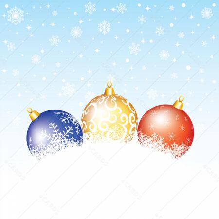 Božićne kuglice čestitka GC0033