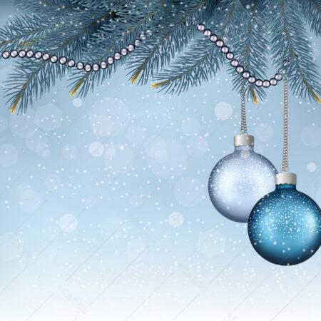 Božićne kuglice i granje čestitka GC0024