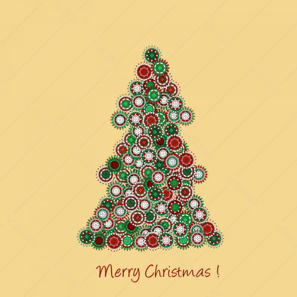 Božićni bor Božićna čestitika GC0072