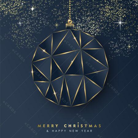 Božićni i novogodišnji luksuzni ukras - čestitka GC0016