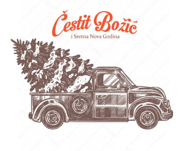 Božićni kamion e-čestitka GC0157