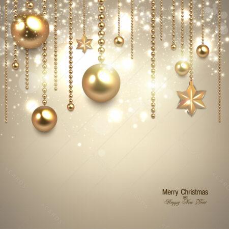 Božićni ukrasi u zlatu čestitka GC0082