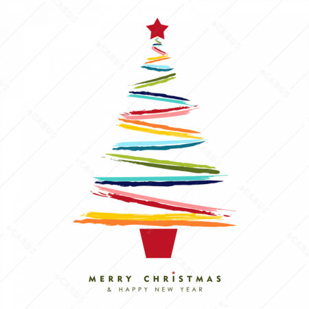 Božićno drvce čestitka GC0021