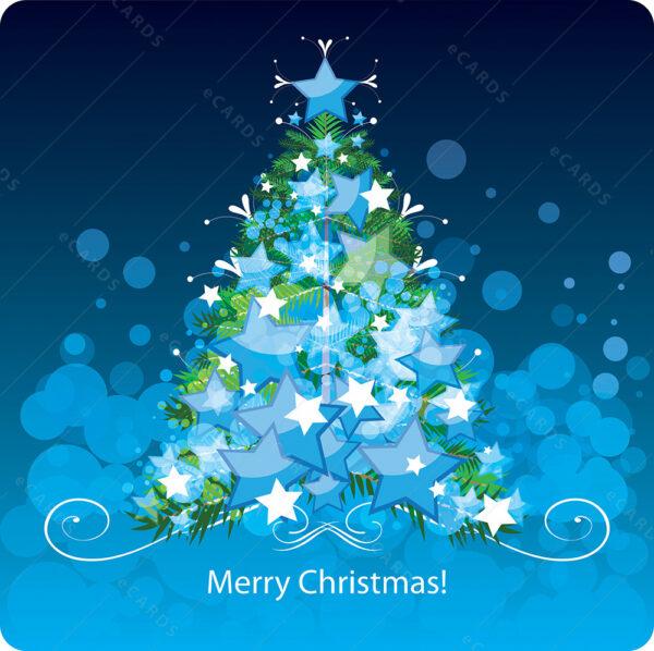 Božićno drvce digitalna čestitka GC0076