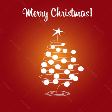 Božićno drvce i kugle - čestitka GC0007
