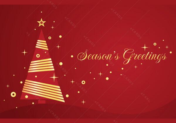 Božićno drvce u zlatu čestitka GC0048