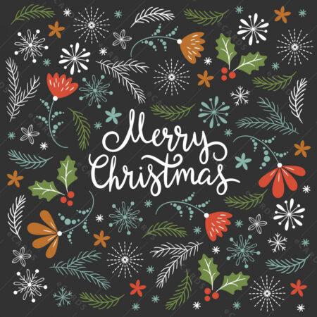 Božićno granje  ukrasi čestitka GC0031