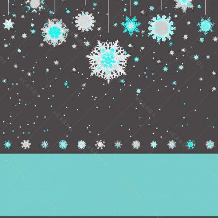 Božićno nebo sa pahuljicama i ukrasima čestitka GC0061