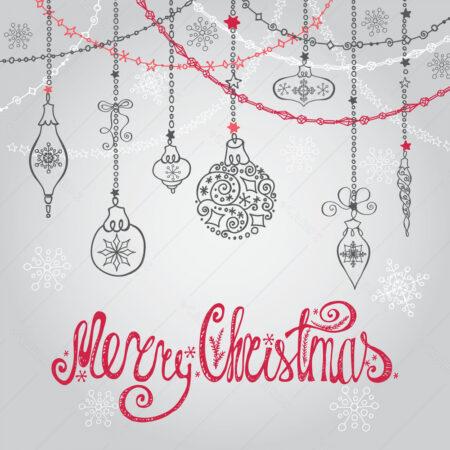 Čestitka sa božićnom dekoracijom GC0042