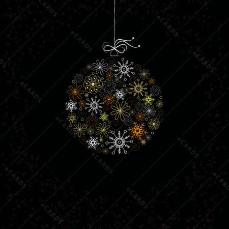 Dekorativna Božićna kuglica čestitka GC0052