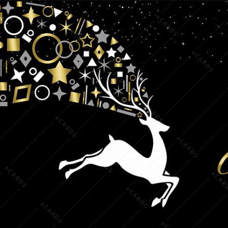 E-čestitka sa božićnim jelenom GC0088