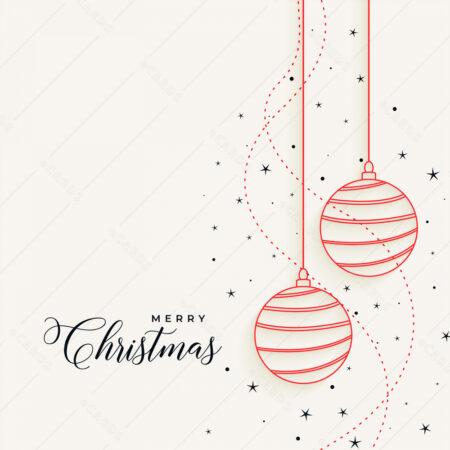 Elegantna božićna čestitka sa visečim kuglicama GC0083