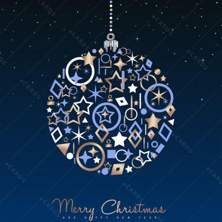 Kuglica ukras za Božić i Novu godinu - čestitka GC0011