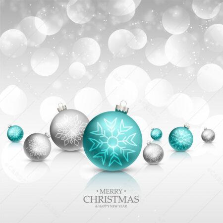 Ledene Božićne kuglice čestitka GC0051