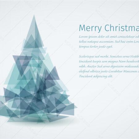 Moderna Božićno drvce čestitka GC0130