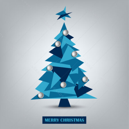 Moderni Božićni bor iz trokuta čestitka GC0041