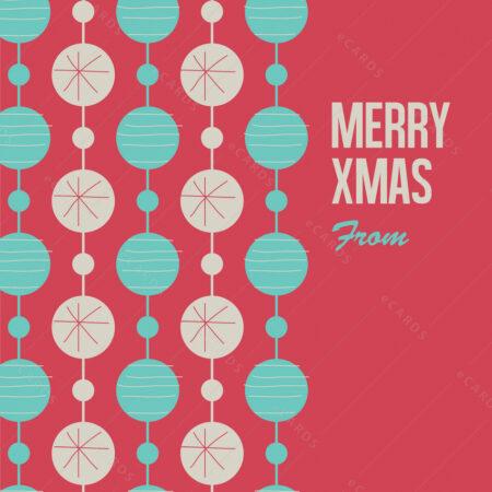 Novogodišnja čestitka sa Božićnim kuglicama GC0108