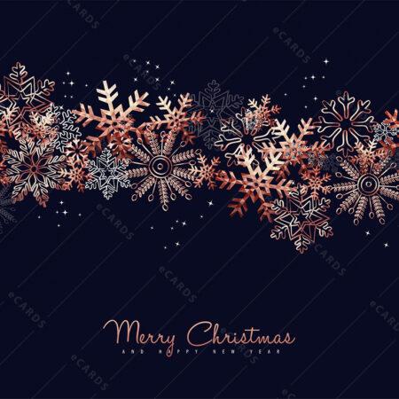 Pahuljice obojene za Božić i Novu godinu - čestitka GC0012
