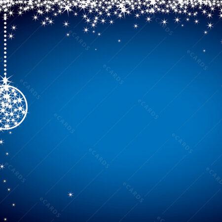 Plava božićna čestitka GC0087