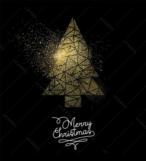 Sretan Božić borić u zlatnoj prašini GC0057