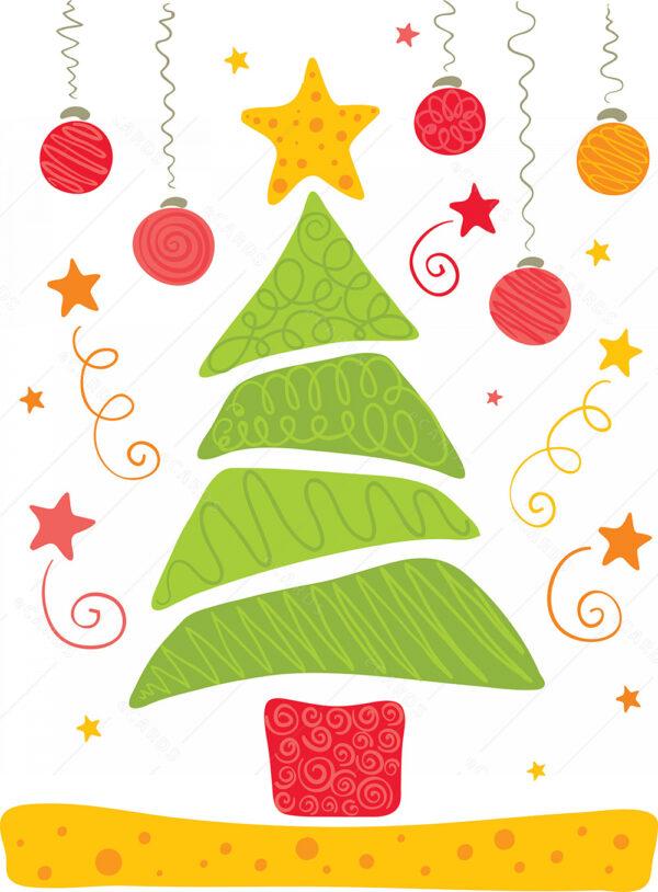 Sretno božićno drvce čestitka GC0008