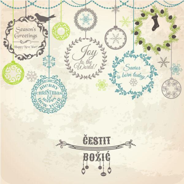 Starinska Božićna čestitka GC0146