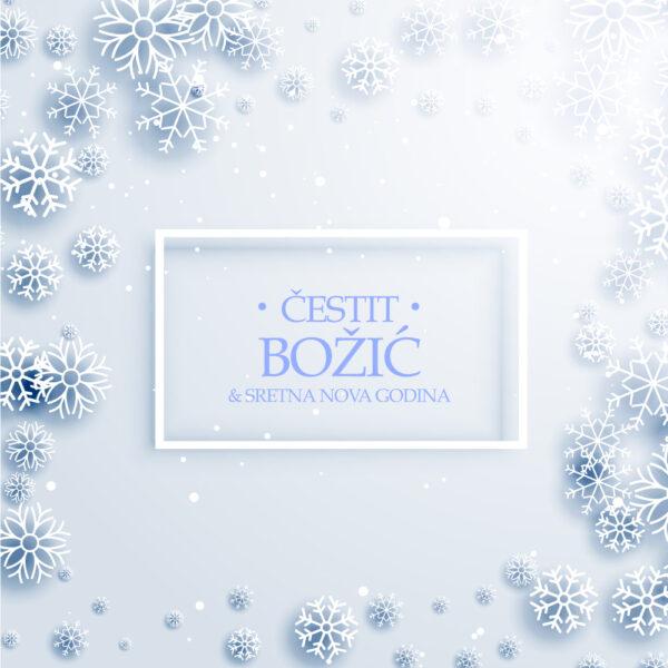Stilska Božićna čestitka za pahuljicama GC0145