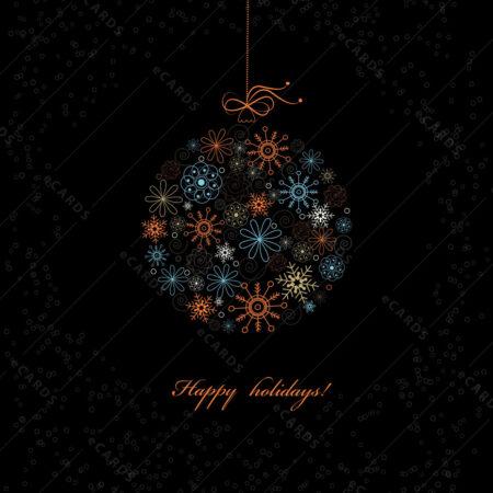 Stilska Božićna kuglica čestitka GC0029