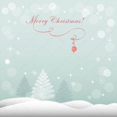 Šuma u božićnoj snježnoj idili čestitka GC0038