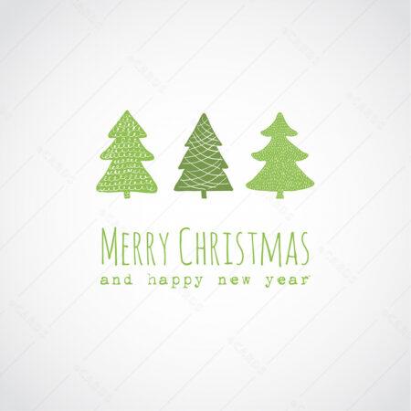 Ukrasna Božićna drvca - čestitka GC0044