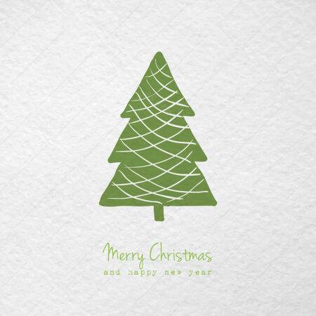 Zeleni Božićni bor čestitka GC0060