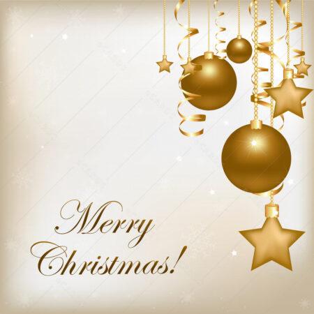 Zlatni božićni ukrasi čestitka GC0036