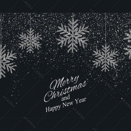 Zvjezdano Božićno nebo sa pahuljama GC0066
